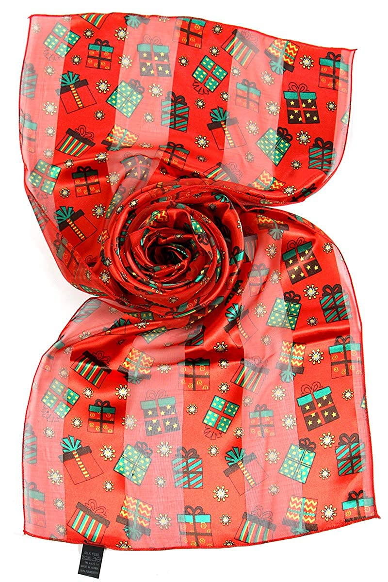 Christmas Scarf Christmas Gift Box Santa Oblong By Christmas Scarf Company Snow Day