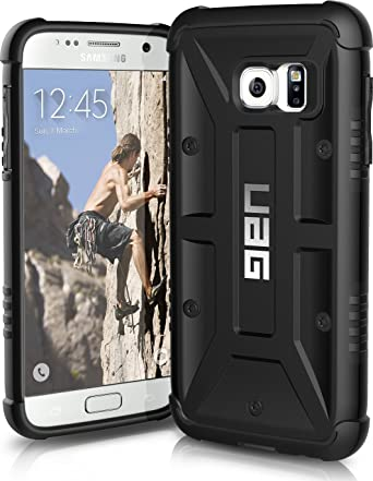 reputable site df602 aab81 Urban Armor Gear UAG Samsung Galaxy S7 Feather-light Composite [BLACK]  Military Drop Tested Phone Case