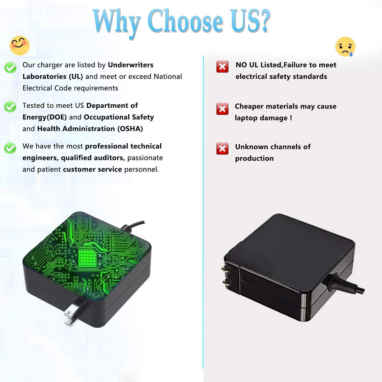 UL Listed AC Charger for Asus X550Z X550ZA X550C X550CA X550L X550LA X550J X550JX X550JK X550 Laptop Portable 7.5Ft Power Supply Adapter Cord