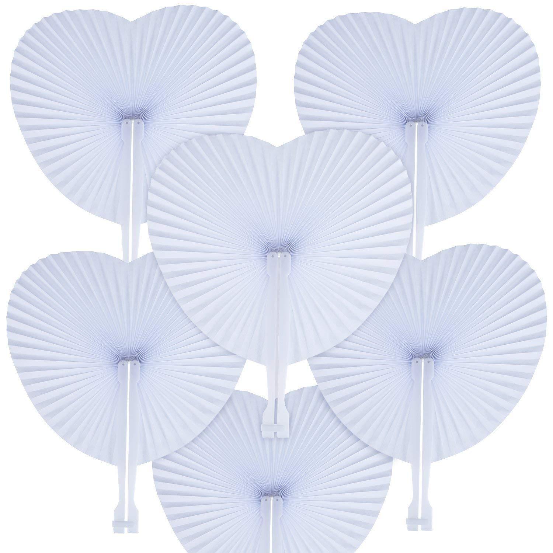 Abanicos en forma de corazon