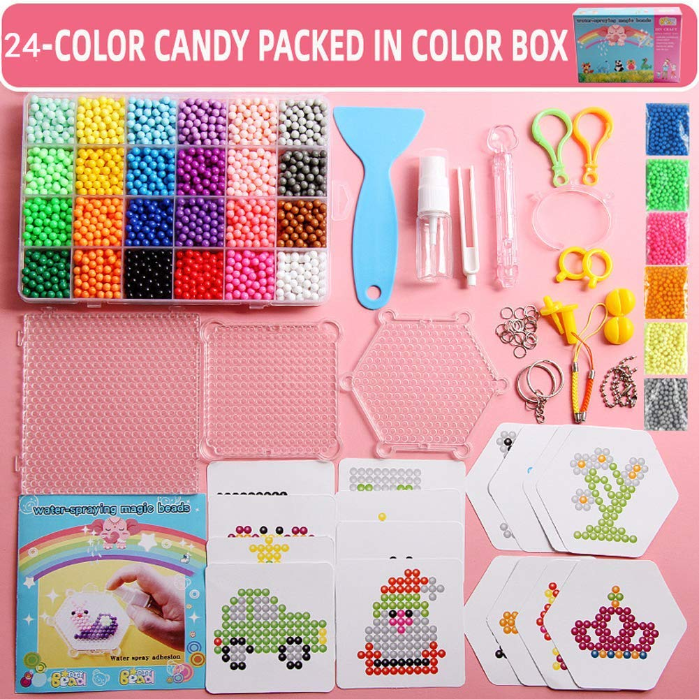 Perler Beads Bulk Assorted Multicolor Fuse Beads for Kids Crafts.Girls Indoor Activity Fun Project Little Princess Crafts Kit for Girls Christmas Gift Age 4 5 6 7 8 9 Year Old Girl Perler Beads.