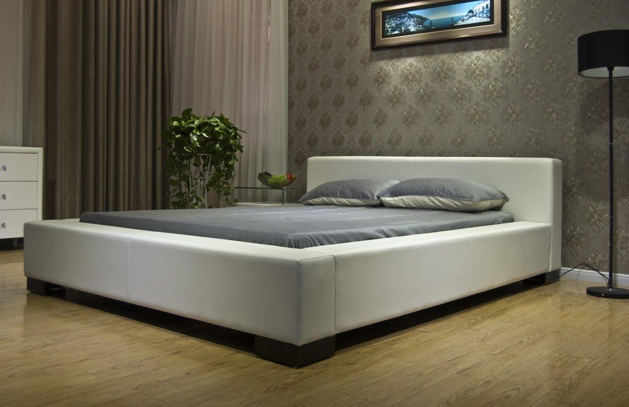 White modern platform bed - Amazon Com Greatime B1142 Queen Size White Color Modern Platform Bed Kitchen Dining
