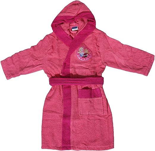 Nuevo albornoz con capucha original Disney Frozen años 2 3 4 5 6 7 8 9 100% microfibra esponja puro algodón niña anni 2/3 Rosa: Amazon.es: Hogar