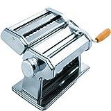Pasta Maker Machine - Stainless Steel Roller for Fresh Spaghetti Fettuccine Noodle Hand Crank Cutter