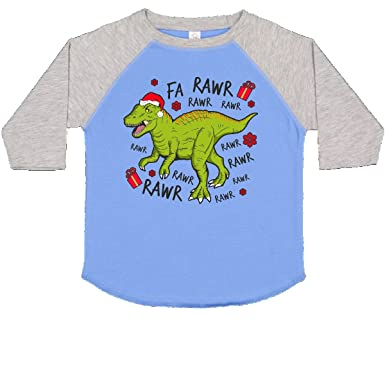 f8e0e0fc0 inktastic - T-Rex Singing Christmas Toddler T-Shirt 2T Blue and Heather  2e07f