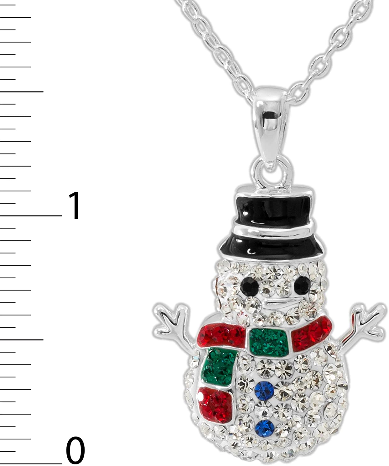Luxurious Womens Necklace Merry Christmas Jewellery Fashion Snowman Pendant LS