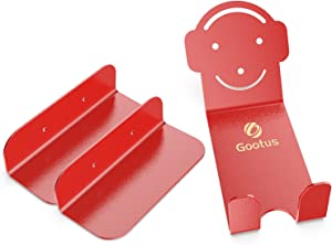 Gootus Bike Wall Mount - Horizontal Indoor Storage Bike Rack for Garage or Home, Heavy Duty Bicycle Hold hooks for Road, Mountain or Hybrid Bikes (Red (1 Pack))