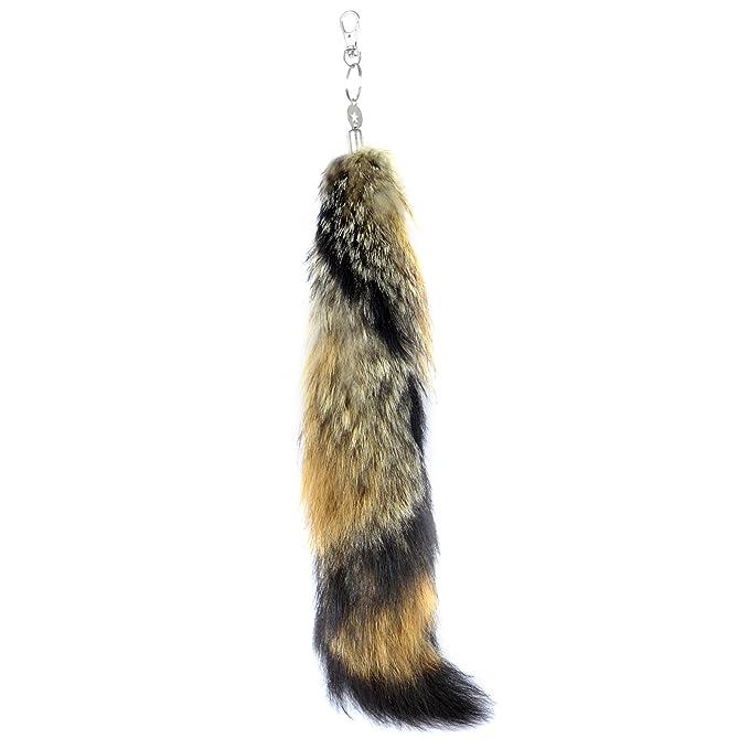 Amazon.com: URSFUR sesamum Fox Tail Fur Tag llavero cartera ...