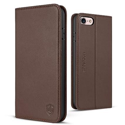 Amazon Com Iphone 8 Case Iphone 7 Case Shieldon Genuine Leather