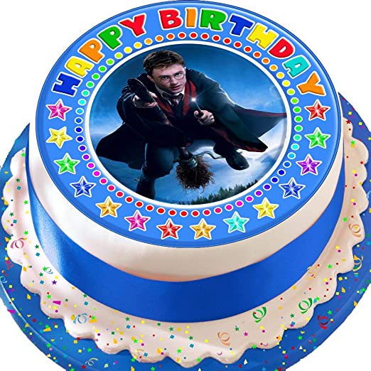 Harry Potter azul feliz cumpleaños cumpleaños troquelada ...