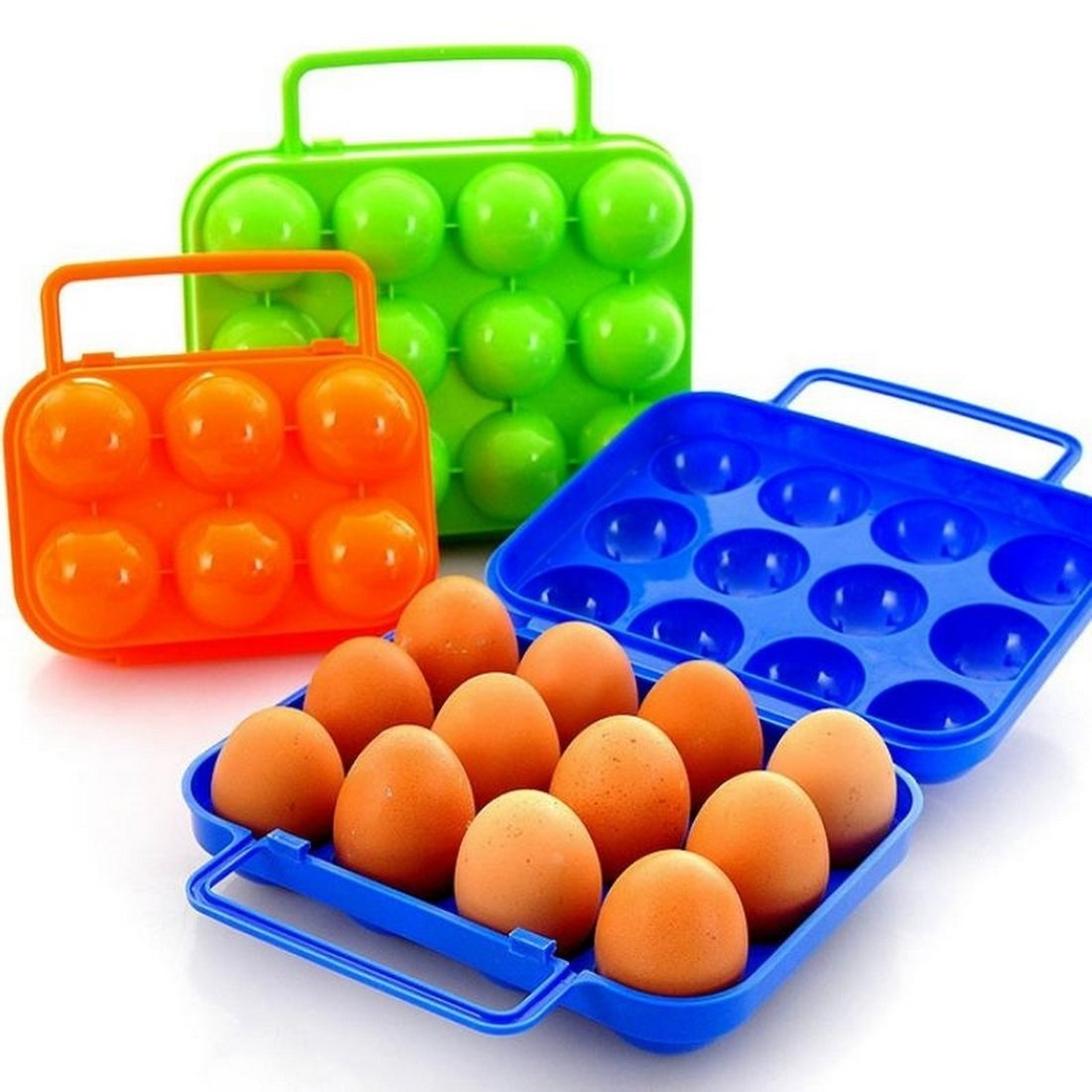 Loweryeah 6/12 Eggs Plastic Folding Eggs Carrier Portable Eggs Storage Holder for Pinic Container by Loweryeah (Image #2)
