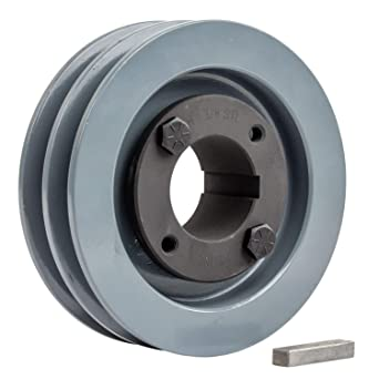 2.75 Cast Iron 1 Shaft Pulley Sheave 2 Groove V Style A Belt 4L New Single