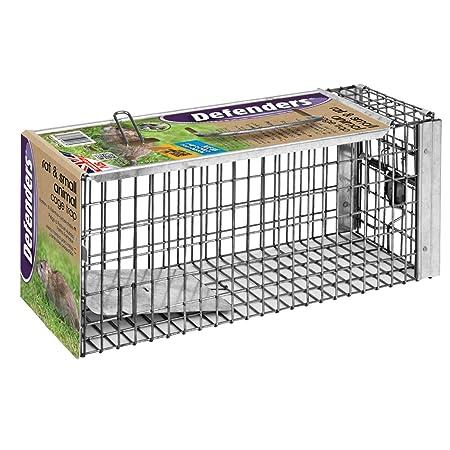 Defenders -Trampa de la jaula de la rata y la ardilla (Humano, fácil de cebo y conjunto, Malla galvanizada de larga duración, trampa lista para el uso de ...