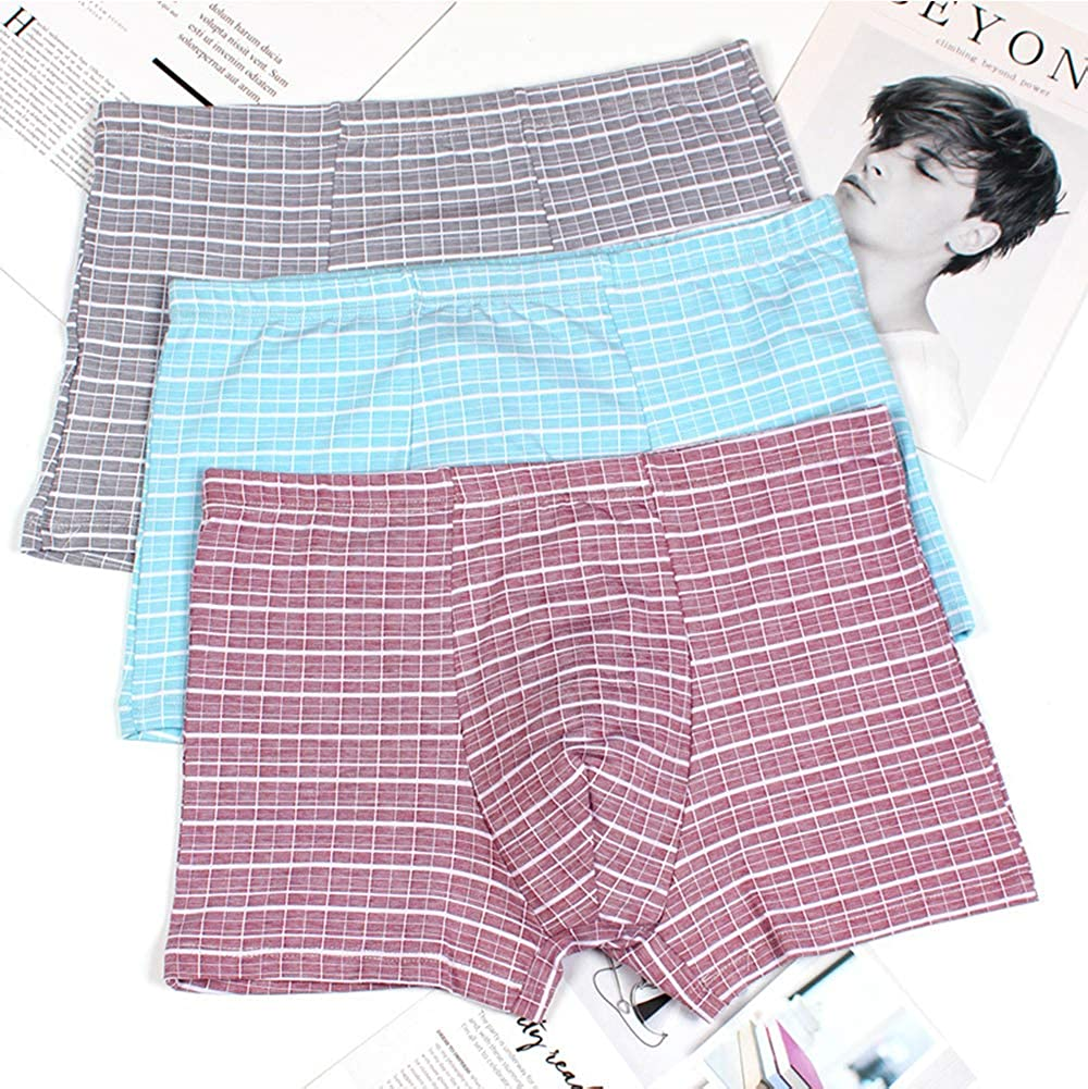 Sindh Mans Underwear Cotton Boxer Brief,Set of 3