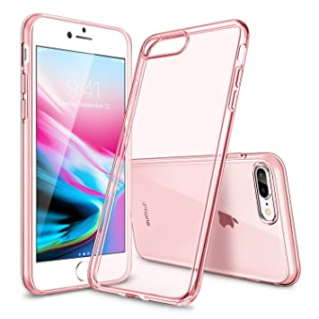 ESR Funda para iPhone 8 Plus/ 7 Plus, Transparente TPU [Protección a Bordes