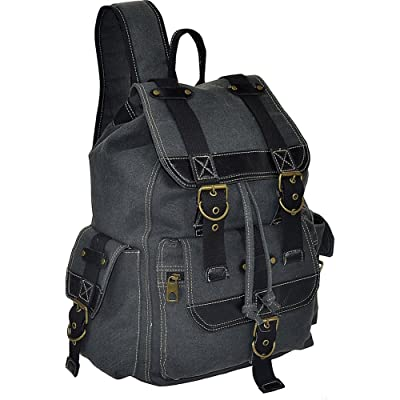 60%OFF R & R Collections Canvas Backpack with Flap and 2 Side Pockets