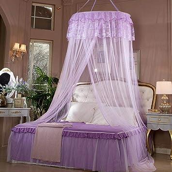 xixik moustiquaire de lit en maille fine violet grand lit double moustiquaire lit 2 places moustiquaire - Moustiquaire De Lit