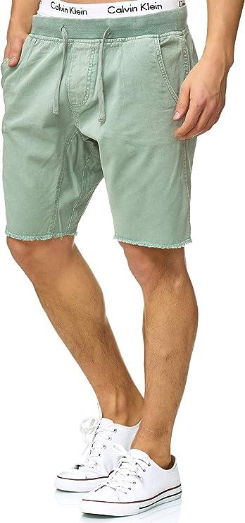 Indicode Caballero Carver Pantalones Cortos Chinos de 100 % algodón
