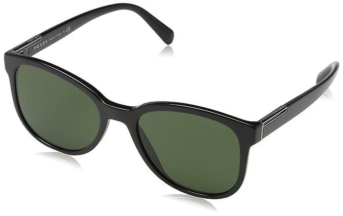 Prada Herren Sonnenbrille 0PR08US 1AB1I0, Schwarz (Black/Green), 54