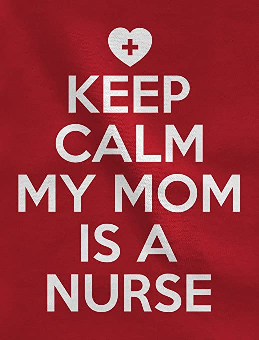 Cute Onesie Keep Calm my mom is a Nurse Complete with stethoscope around the neck