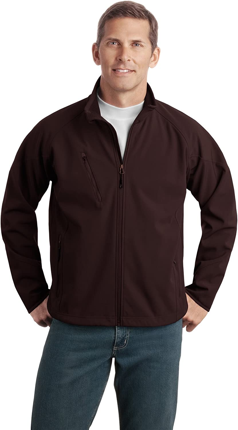 Port Authority Mens Tall Textured Soft Shell Jacket