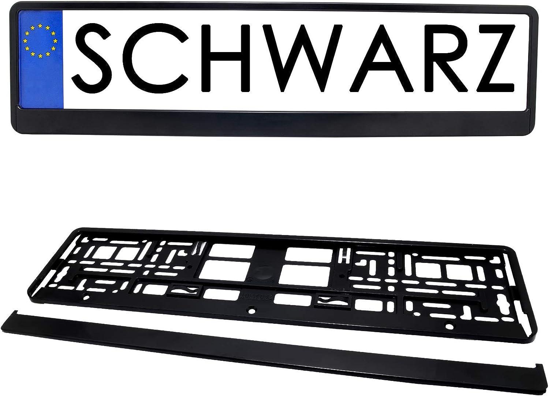 2x Kennzeichenhalter in Schwarz Kennzeichen Nummernschild Halter Clips 2er-Set