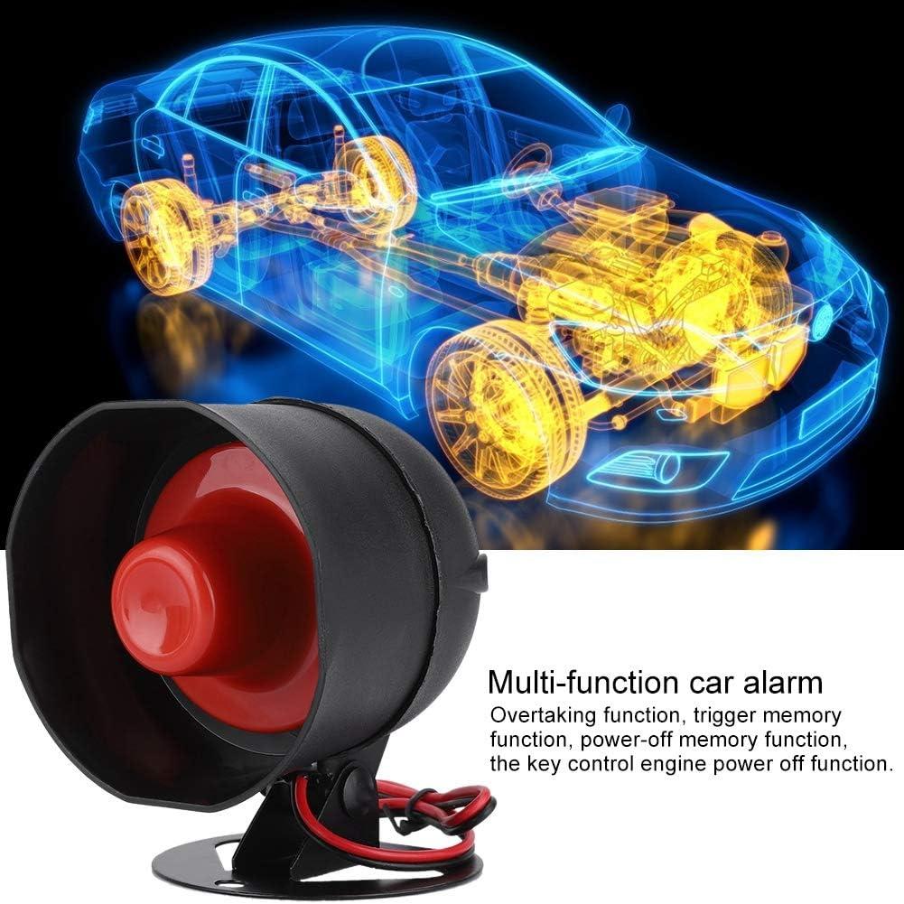 Dos m/étodos antirrobo 2# Alarma universal de coche incluye alarma de alarma//rel/é de falla de alimentaci/ón Bloqueo de control remoto la llave de alarma antirrobo del veh/ículo