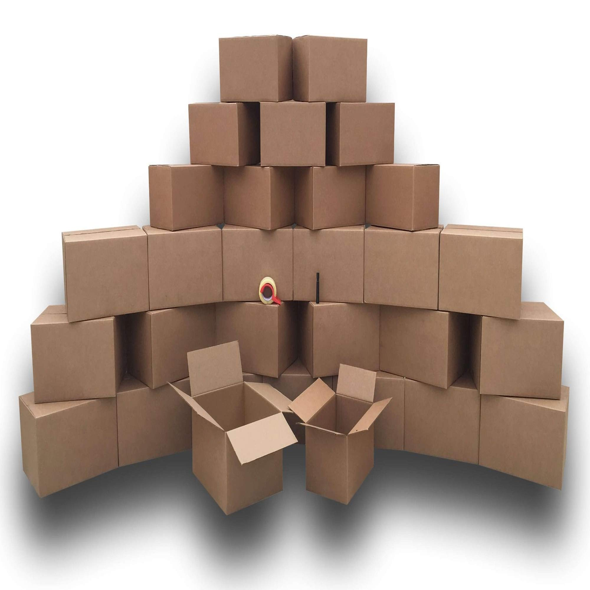 UBOXES Moving Boxes - Value Economy Kit #2 Qty: 30 Boxes & Moving Supplies