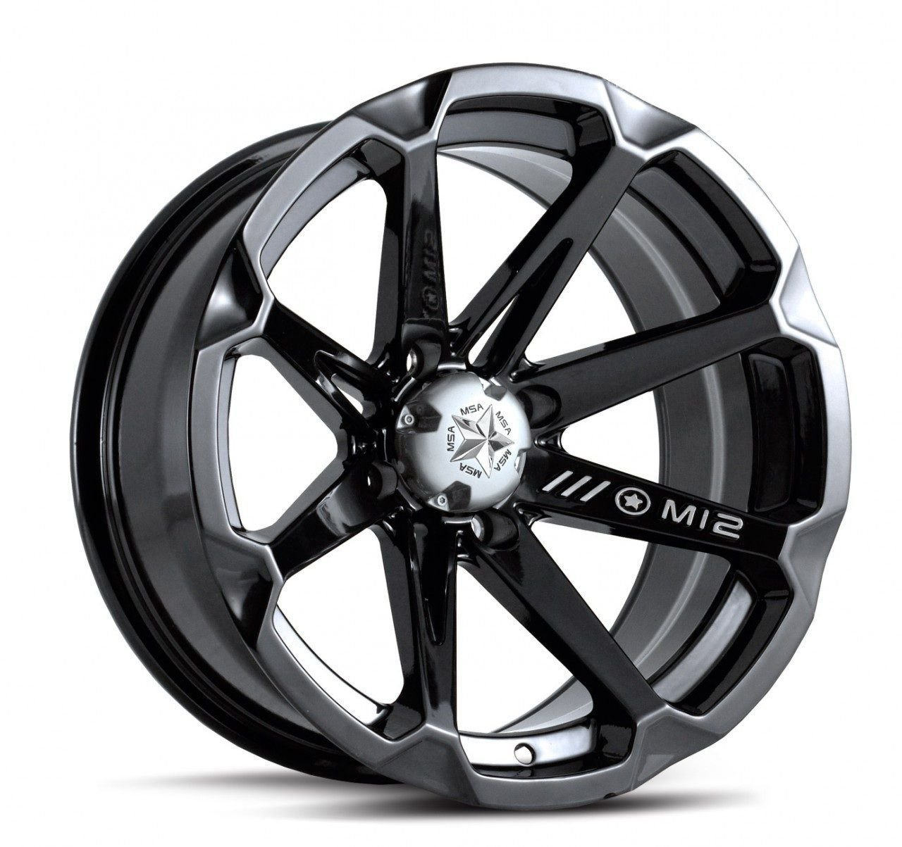 MSA M12 Diesel ATV Wheels/Rims Black 14'' Polaris 2013 Ranger 900 XP (4)