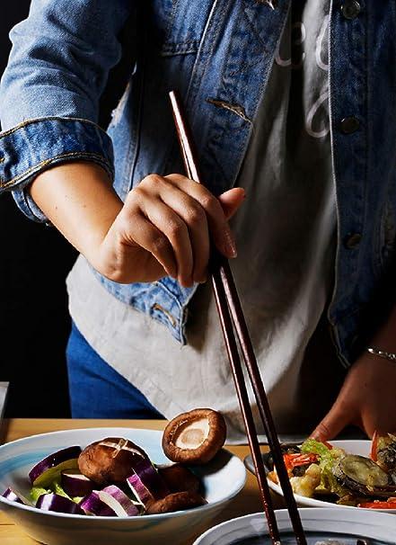 Extra long Hot Pot Chopsticks,42cm Cedmon Grocery Cooking Wooden Chopsticks