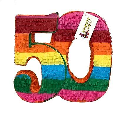 Amazon.com: ApinatA4U 50TH - Doble dígito de cumpleaños con ...