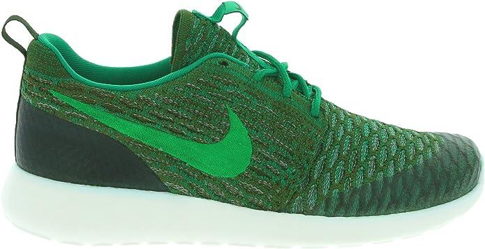 Nike WMNS Roshe One Flyknit, Chaussures de Sport Femme, Vert