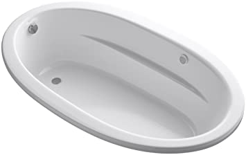 KOHLER K-1164-G-0 Sunward 6-Foot BubbleMassage Bath, White ...