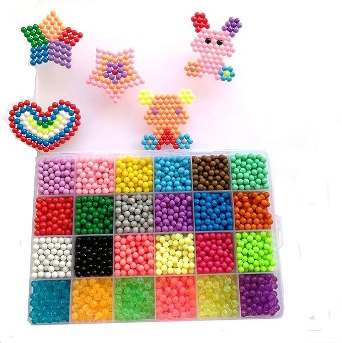 66 opinioni per vytung Perle da acqua 3600 perline 24 colori (6 brilla al buio) Kit per