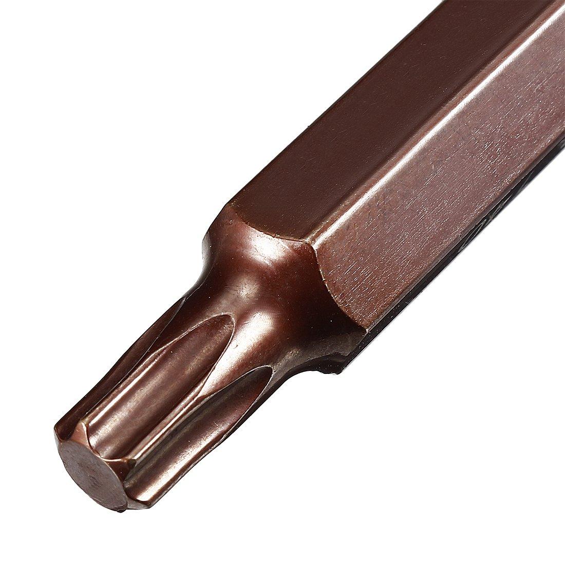 S2 Steel uxcell 2Pcs 1//4-Inch Drive T10 Torx Bit Socket