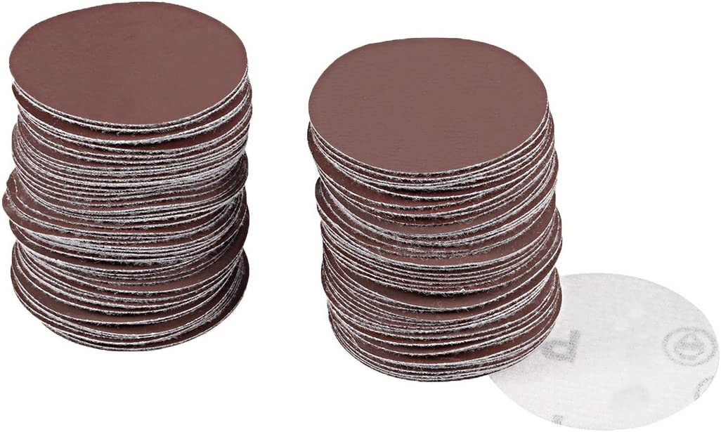 100x 4inch Sanding Discs Hook and Loop Sandpaper Backing 150 Grit Sandpaper