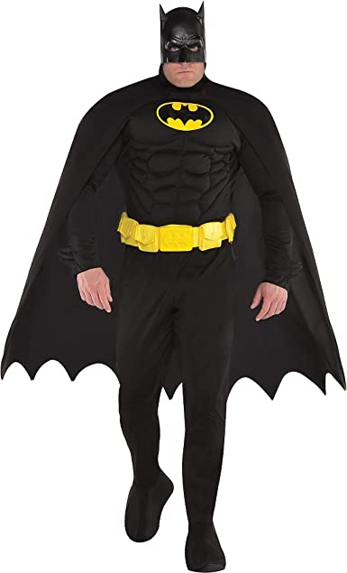 Amazon.com: Disfraz de Batman para adulto, talla grande ...
