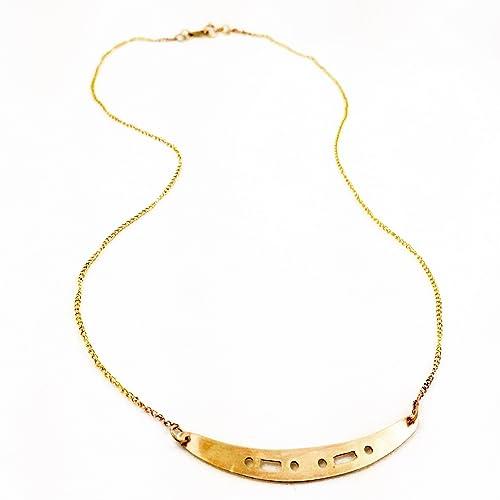f447731ec659a Amazon.com: Customizable Morse Code Name Necklace: Handmade
