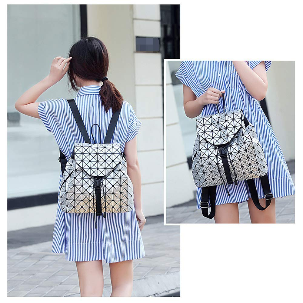 Amazon.com | Geometric Backpack Lingge Laser Backpacks Women Fashion Shoulder Bags Travel College Rucksack Gold | Casual Daypacks