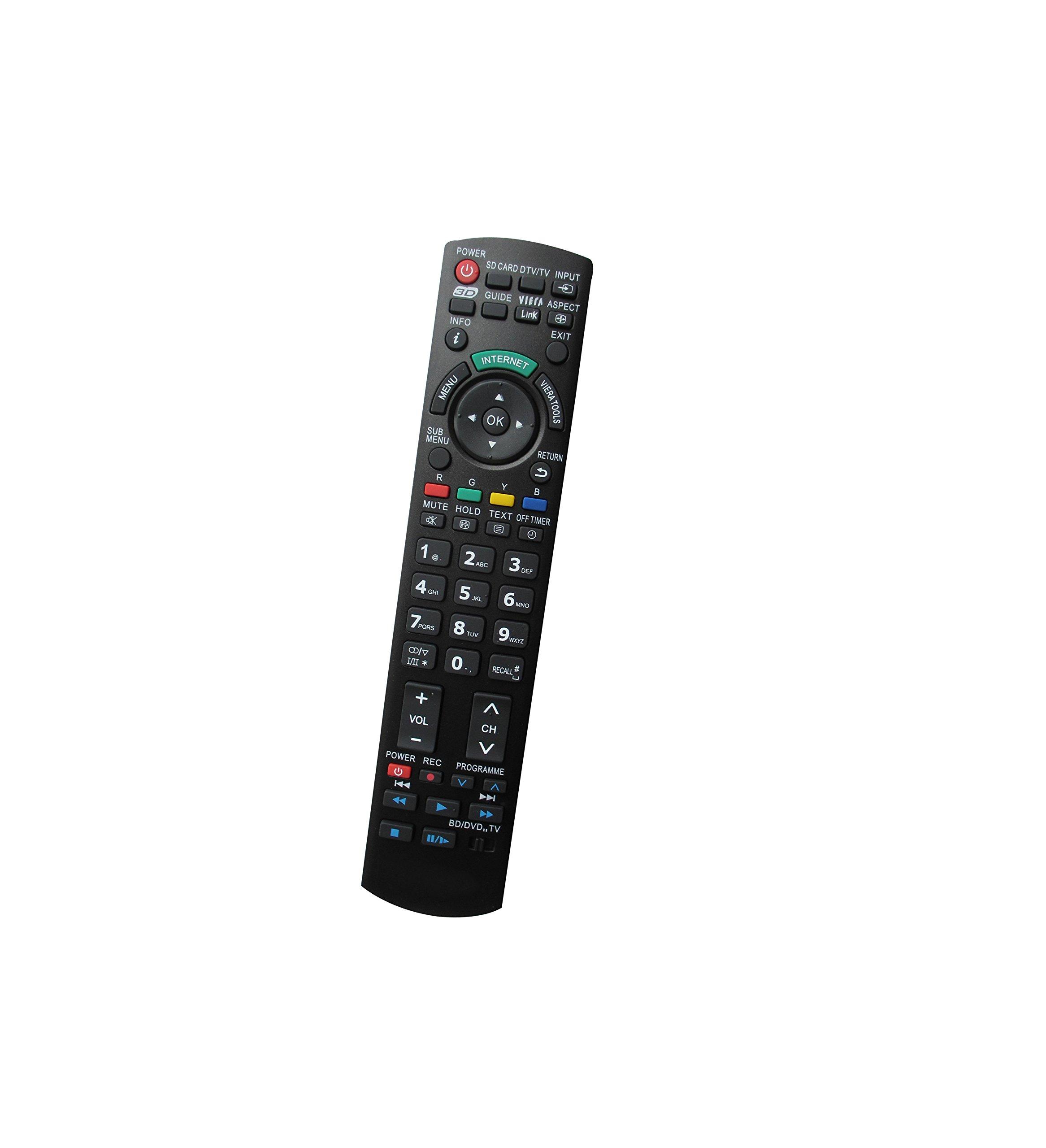 Universal Replacement Remote Control Fit For Panasonic TC-22LH1 TC-22LH30 TC-23LX50 TH-42LRH50U TH-47LFV5U Plasma LCD LED HDTV 3D Viera TV