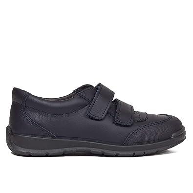 Zapatos Colegiales niños para Uniforme Piel Lavable Memory Foam Azul Marino: Amazon.es: Zapatos y complementos