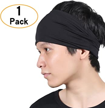 Amazon.com: Las mujeres headband – Sudor Wicking turbante ...