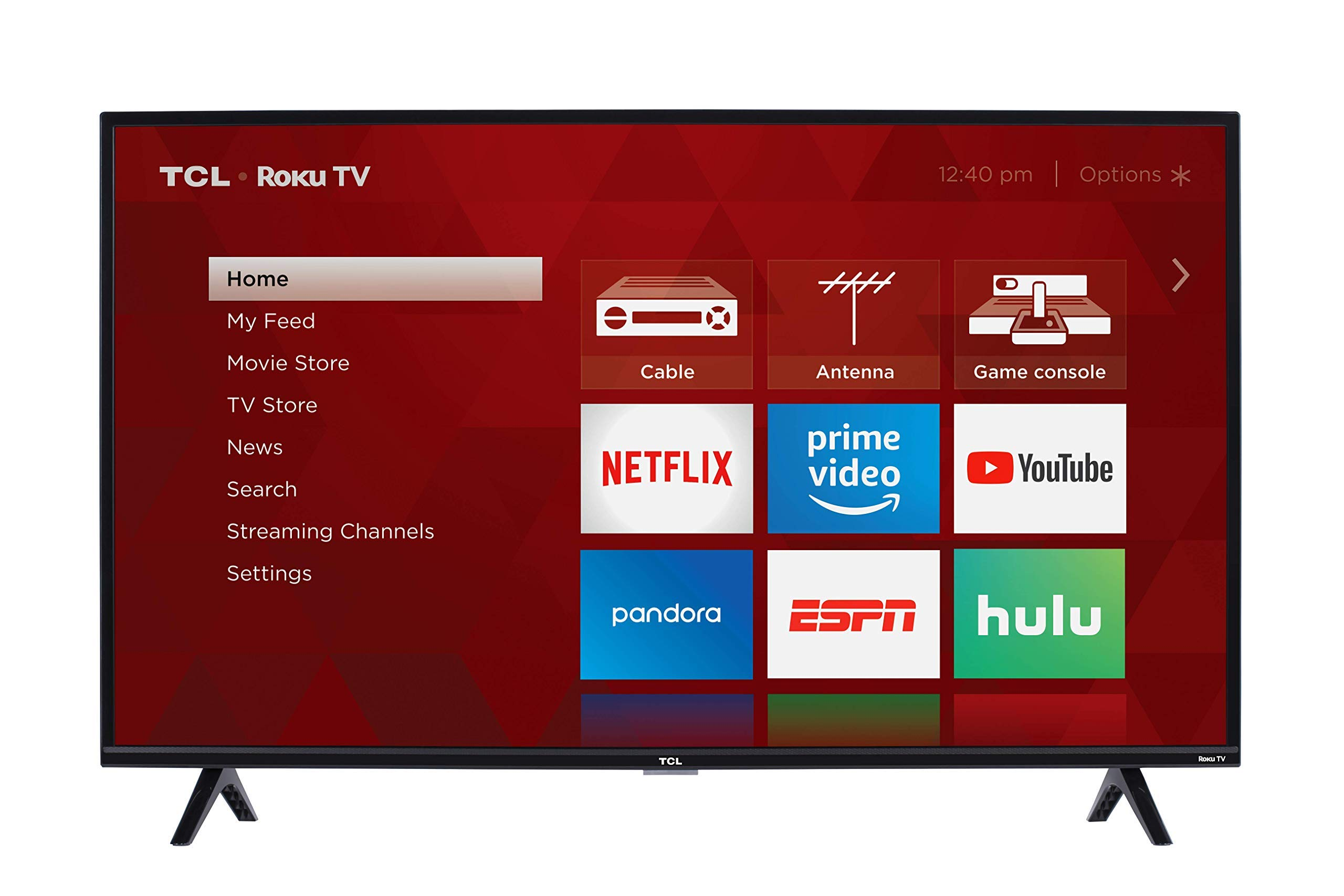 TCL 40S325 40 Inch 1080p Smart LED Roku TV (2019) (Renewed) by TCL