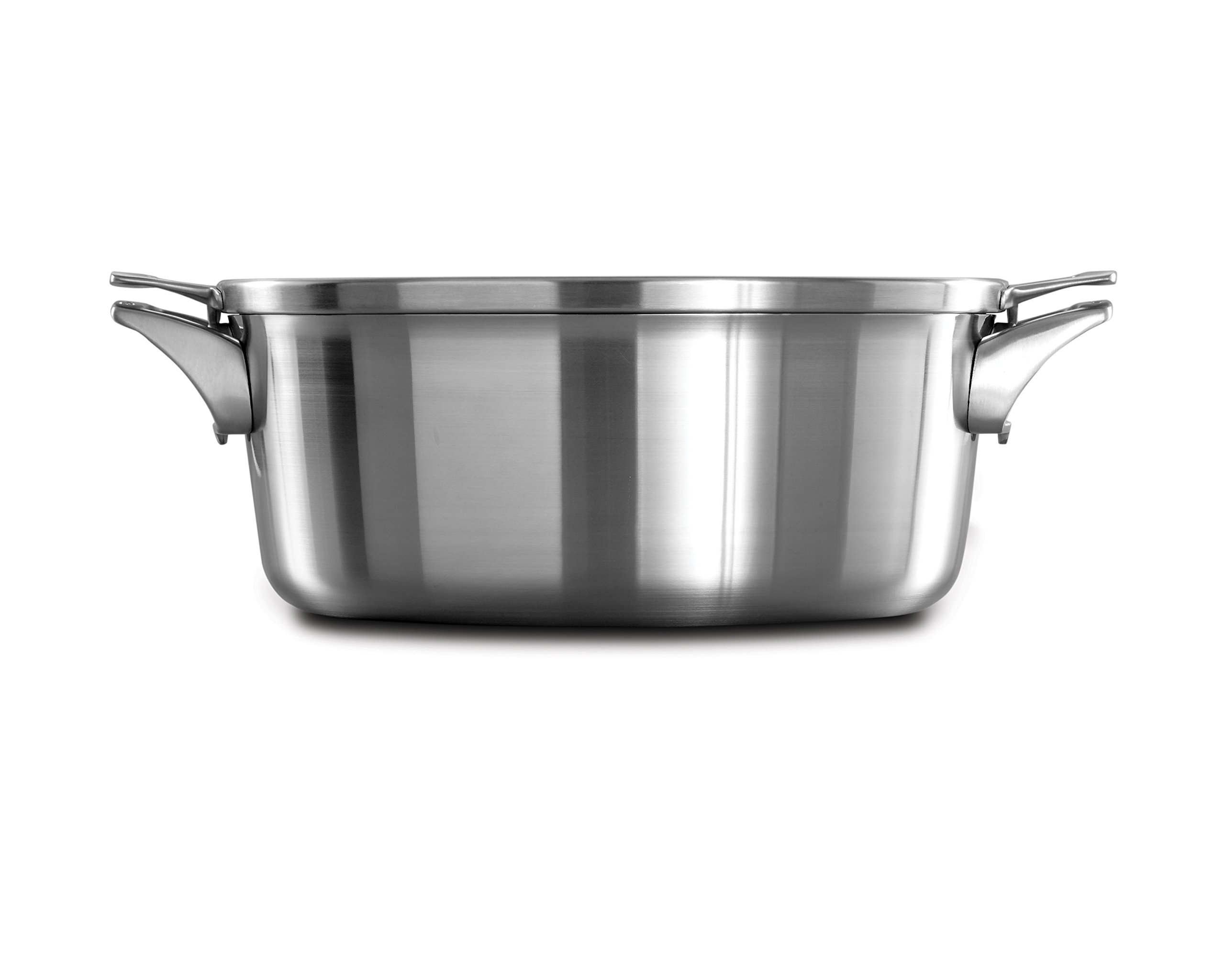 Calphalon Premier Space Saving Stainless Steel 8.5qt Dutch Oven with Cover