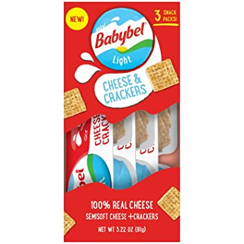 Mini Babybel Light Cheese U0026 Crackers, 3.2 Oz, ...