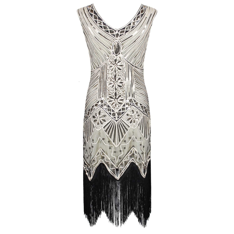 Ro Rox Gloria Vestito della Falda Stile 1920 Great Gatsby Party