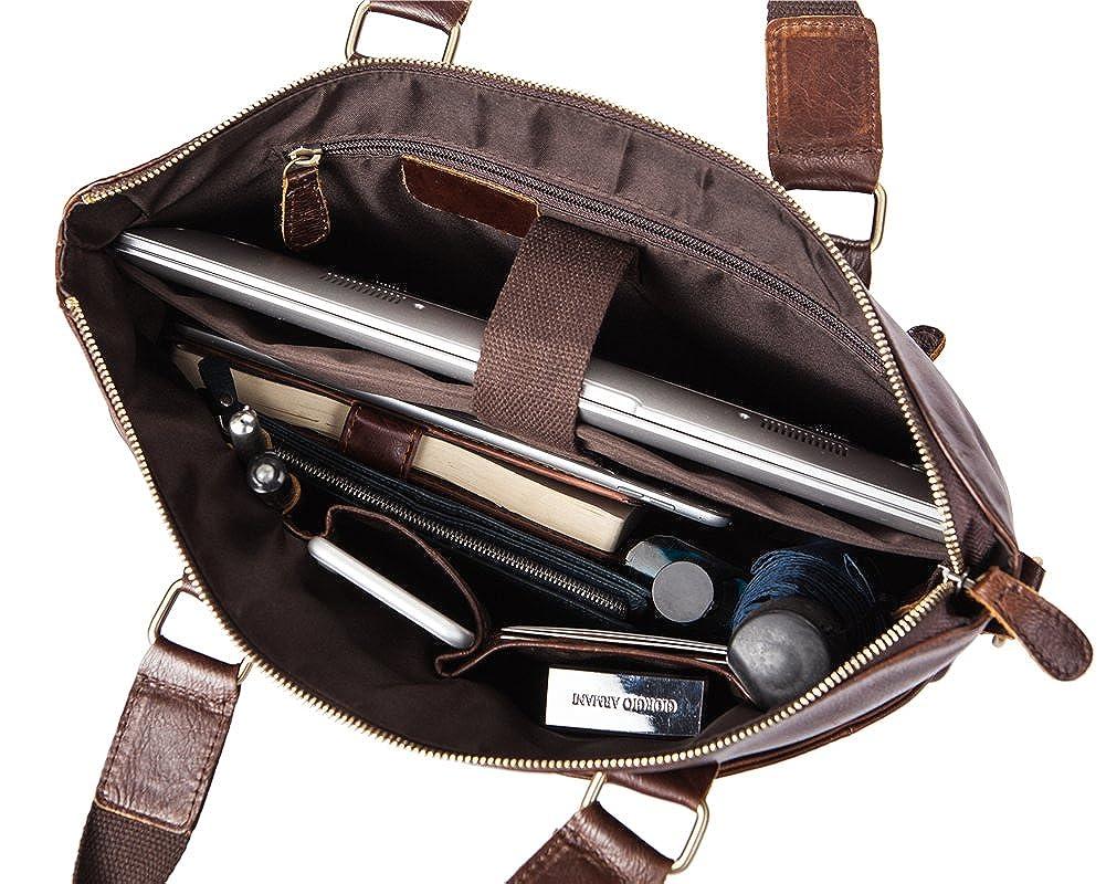 Genda 2Archer Mens Casual Multifunction Tote Shoulder Bag Briefcase