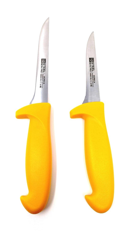 2-teiliges Ausbeinmesserset von 16 und 13cm Messerschneidelänge. Blisterpackung - STEEL βPRO SERIES CRC