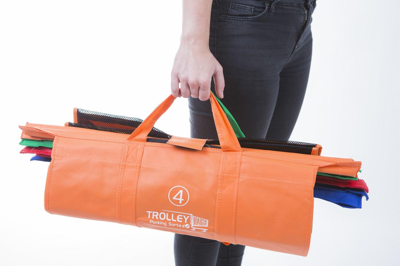 Sac Isotherme 6 pi/èces UPP Trolley Bags Sac de Courses et Sac de Transport Extra Large Sac de Courses r/éutilisable