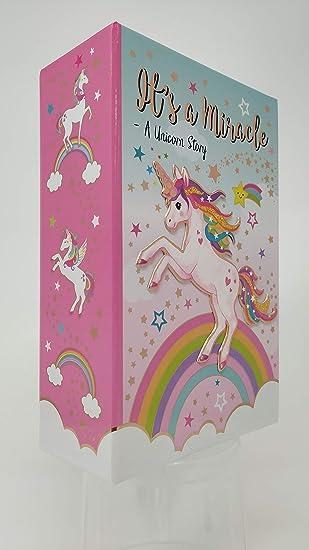 Amazon.com: Caja fuerte para libros de unicornio Hot Focus ...